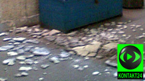 Płat sufitu odpadł w przejściu pod Dworcem Wschodnim