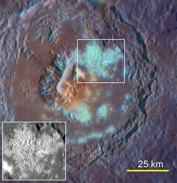 Przykład wielkiego krateru na Merkurym, Tyagaraja (NASA)