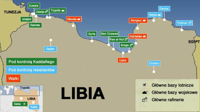 Odparli atak na Bengazi i Misratę. Kaddafi atakuje Zintan
