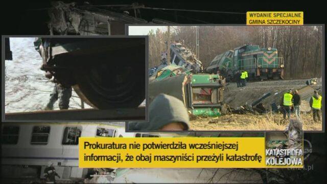Prokuratura: dyżurni ruchu byli trzeźwi (TVN24)