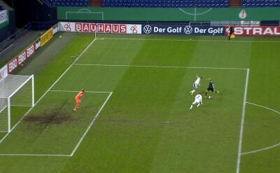 Puchar Niemiec. Schweinfurt - Schalke 1:0. Gol Martin Thomann