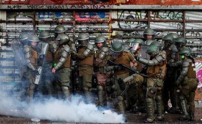 Zamieszki w stolicy Chile Santiago