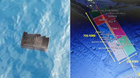 Szczątki zauważone w wodach oceanu. Statki, okręty, samoloty i satelity w akcji