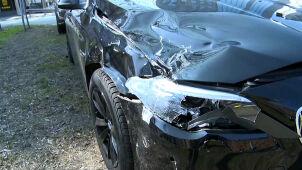 Auto SOP zderzyło się z samochodem dostawczym. W limuzynie osoba ochraniana