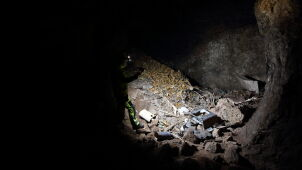Polish spelunkers discover tonnes of waste inside a cave in the Sudetes