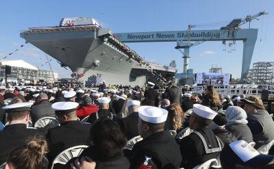Córka Johna F. Kennedy'ego ochrzciła nowy lotniskowiec US Navy