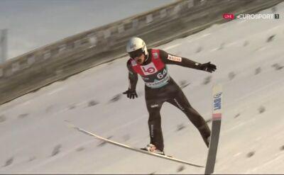 Skok Piotra Żyły z kwalifikacji do konkursu w Vikersund