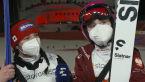 Karpiel i Twardosz po treningach na dużej skoczni