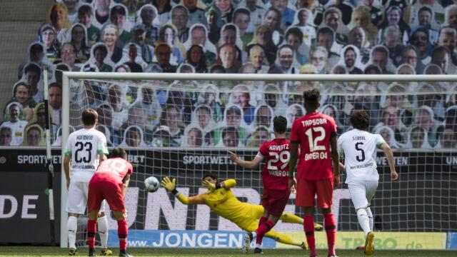 Bayer prześcignął Borussię Moenchenglabdach. Ważne punkty Werderu i Paderborn
