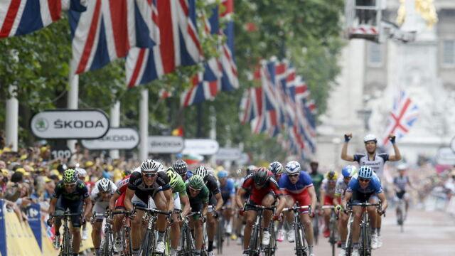 Pod Buckingham Palace królował Kittel. Tour de France pożegnał Wyspy