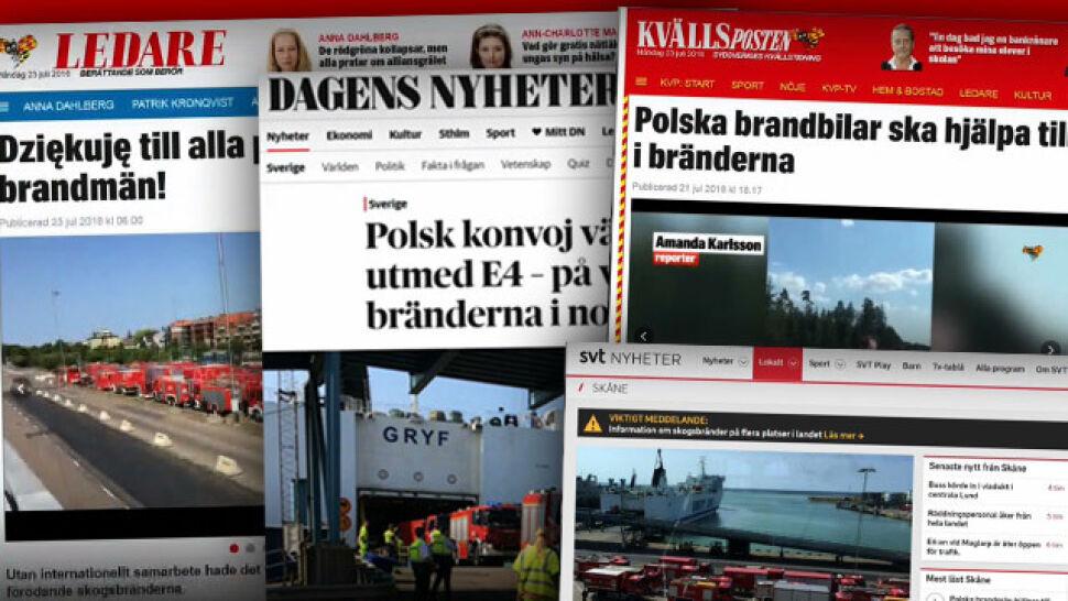 """""""Trudna akcja, lasy szybko się palą"""". Dowódca polskich strażaków o pożarach w Szwecji"""