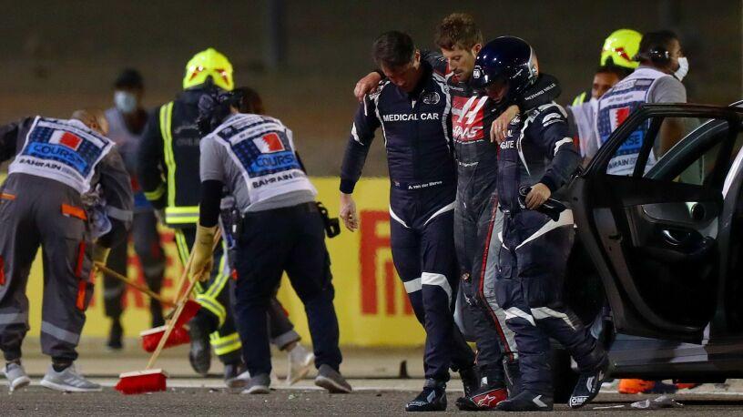 Pomogli uratować Grosjeana. Zostali nagrodzeni