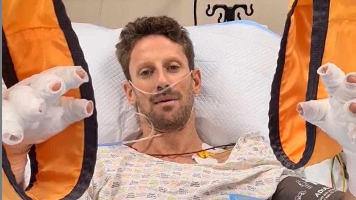 """Grosjean mówi, co uratowało mu życie. """"Bez niej nie byłoby mnie tutaj"""""""