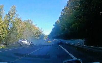 Wypadek z udziałem polskich kierowców na Słowacji