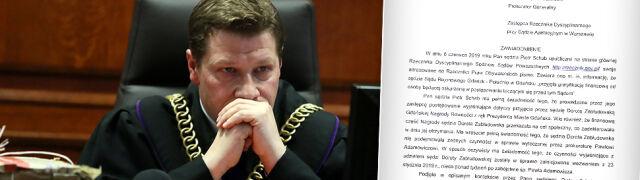 """""""Działanie niegodne sędziego"""". Stowarzyszenie sędziów kontra rzecznik dyscyplinarny Piotr Schab"""