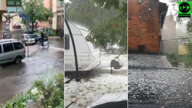 Zalania, gradobicia. Załamanie pogody w Polsce