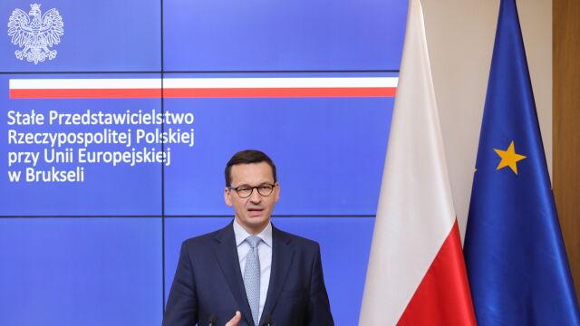 Morawiecki po szczycie Rady Europejskiej o kandydaturach na szefa KE