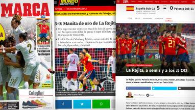 Hiszpańskie media mówią o meczu seniorów z juniorami.