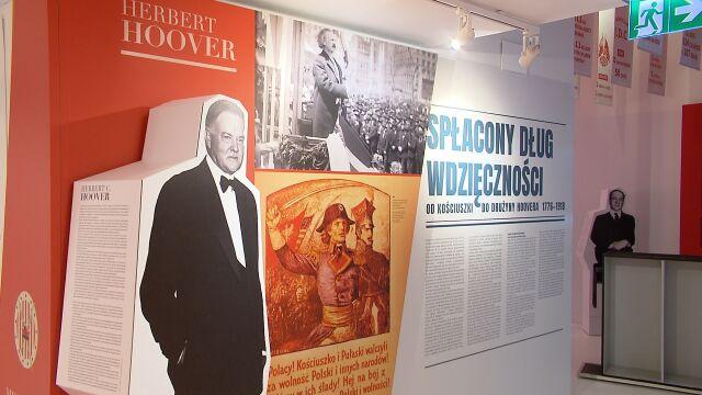Wystawa o amerykańskiej pomocy Polakom.