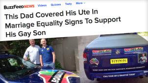 Ojciec geja walczy o prawa syna.  Zdjęcia jego auta obiegają świat