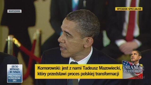 Przemówienie Obamy podczas spotkania z przywódcami partii politycznych