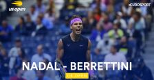 Skrót meczu Nadal  - Berrettini w półfinale US Open