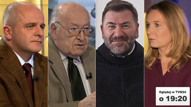 """Paweł Kowal, Stanisław Ciosek, Stanisław Jaromi i Katarzyna Karpa-Świderek będągośćmi """"Faktów po Faktach"""""""