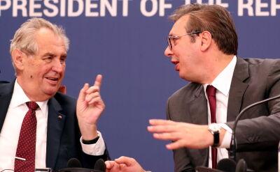 Milosz Zeman spotkał się w Belgradzie z Aleksandarem Vucziciem