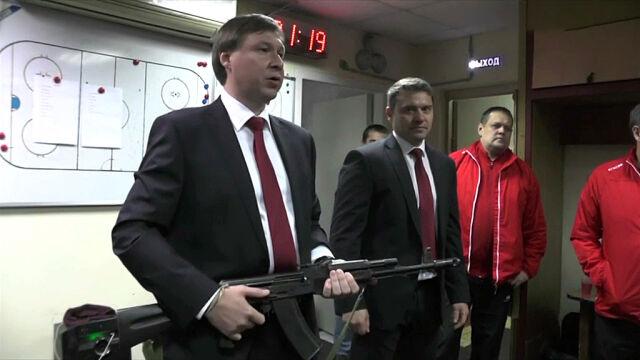 """Kałasznikow nagrodą za dobry mecz. """"Jeśli źle zagramy, rozstrzelają nas z niego"""""""