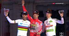 Podium 74. edycji Vuelta a Espana. Roglić z najważniejszą nagrodą