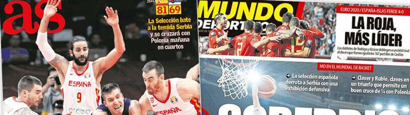 Hiszpanie zachwyceni grą swoich koszykarzy.