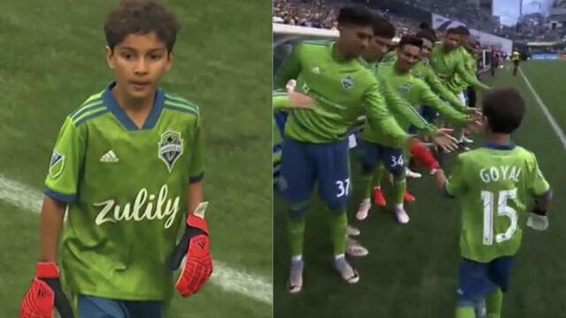 Chory chłopiec zagrał w bramce przeciwko Borussii Dortmund