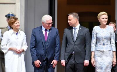 Steinmeier powitany w Warszawie