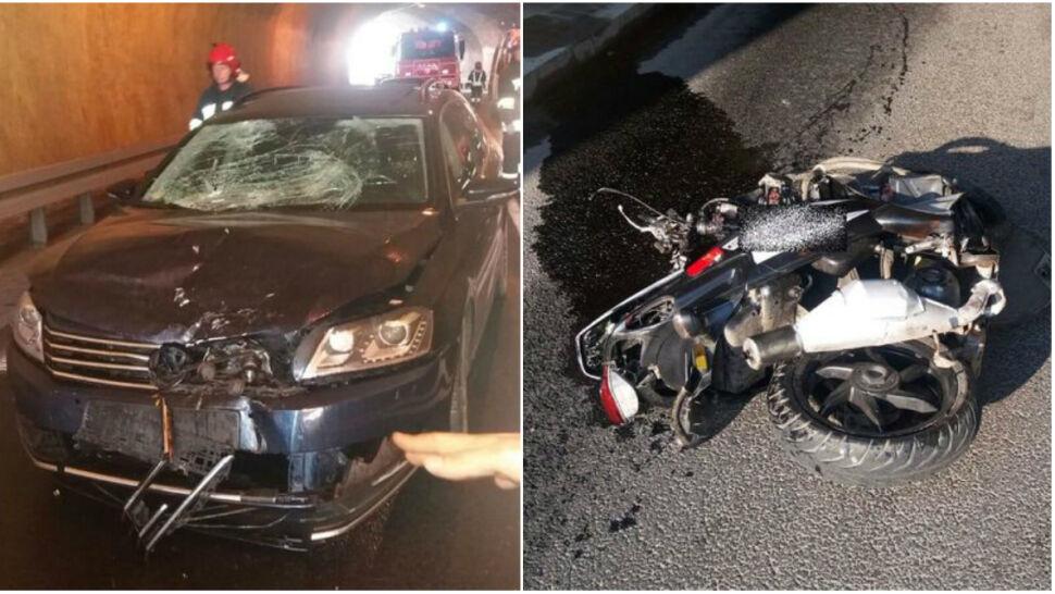 Skazany za śmiertelne potrącenie pieszej brał udział w kolejnym wypadku. Zginął motorowerzysta