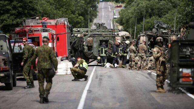 Zderzenie czterech strykerów  na Litwie. 13 żołnierzy w szpitalu