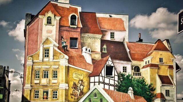 Opowieść śródecka z trębaczem na dachu i kotem w tle. Mural, który zachwyca poznaniaków