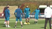 Trening Milanu przed rewanżowym meczem z Manchesterem United w Lidze Europy