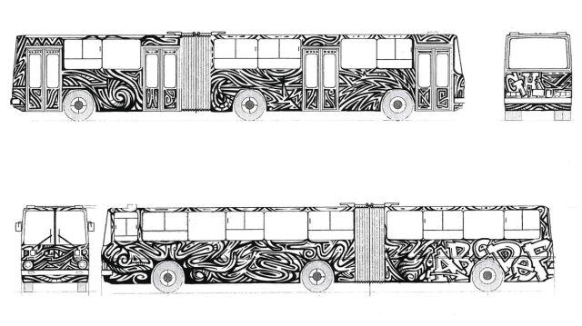 Projekt autobusowego graffiti