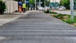 Fale na nowej ścieżce rowerowej w Poznaniu