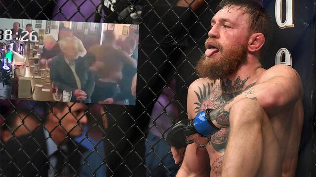 """""""Absurdalny atak"""". Nagranie awantury McGregora w irlandzkim barze"""
