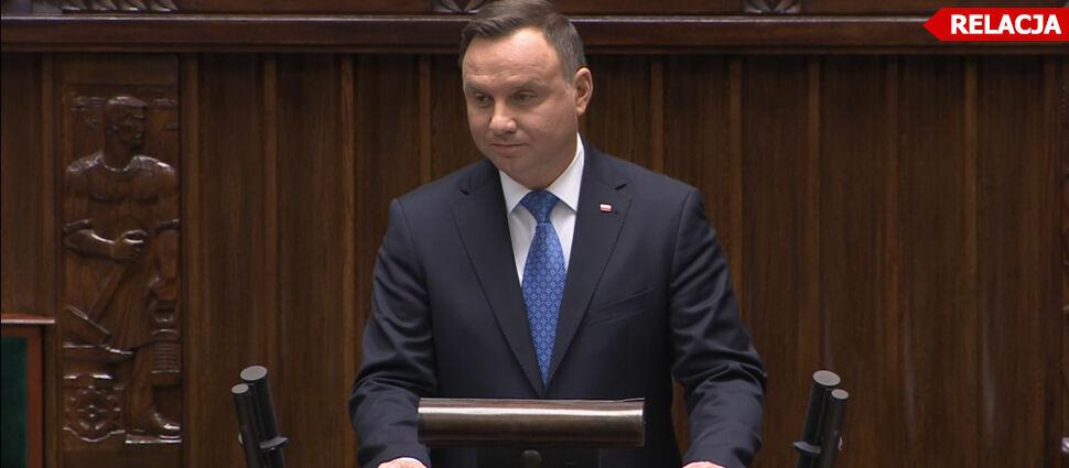 Orędzie prezydenta w Sejmie