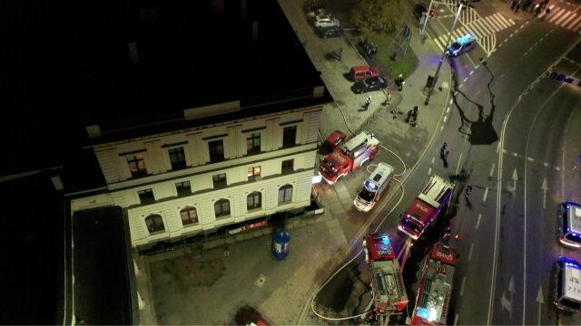 Pożar na Dworcu Świebodzkim we Wrocławiu. Jedna osoba nie żyje, dziewięć rannych