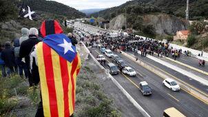 Separatyści zablokowali autostradę.