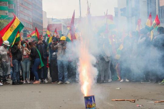 Boliwijczycy świętują dymisje Evo Moralesa