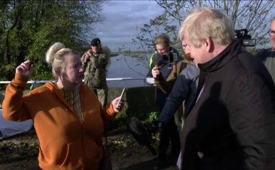 Mieszkańcy dotkniętych powodzią terenów krytykują premiera Johnsona