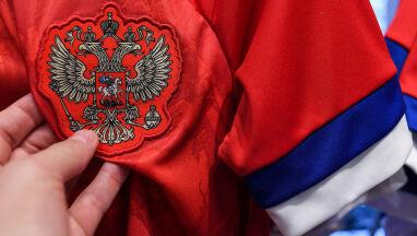Na koszulkach rosyjskich piłkarzy flaga Serbii.