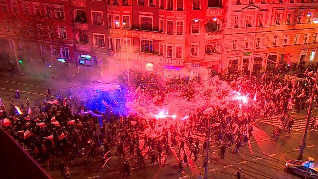 Marsze narodowców. Zatrzymania we Wrocławiu