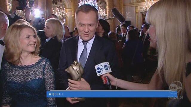 Premier Donald Tusk dziękuje za wyróżnienie (TVN24)