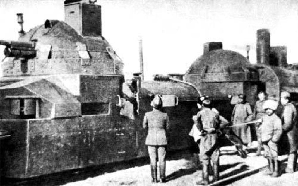 Pociąg pancerny używany przez żołnierzy Korpusu Czechosłowackiego, 1920 rok