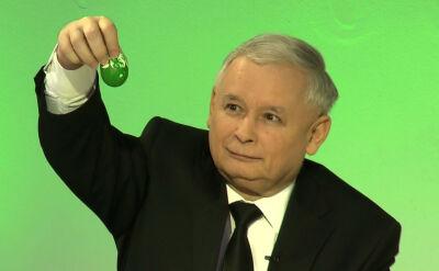 """Jarosław Kaczyński maluje """"PiSanki"""""""
